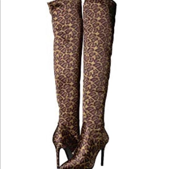 3749cbf1a3b Sexy Leopard Print Over The Knee Boot J. Simpson